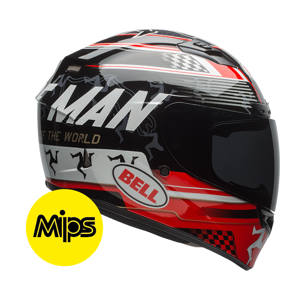 QUALIFIER DLX ISLE OF MAN BLACK/RED MIPS