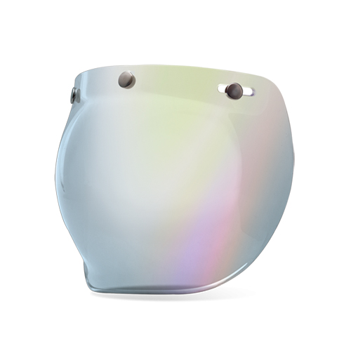 3-SNAP BUBBLE SHIELD SILVER IRIDIUM
