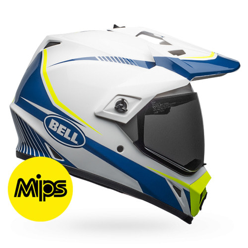 MX-9 ADV TORCH WHITE/BLUE/YELLOW MIPS