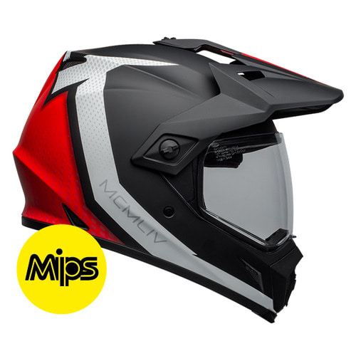 MX-9 ADV SWITCHBACK MATTE BLACK/RED/WHITE MIPS
